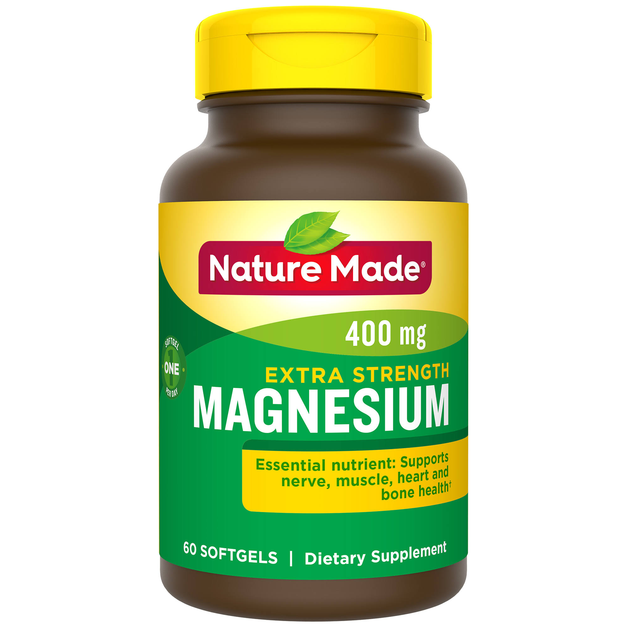Nature Made High Potency Magnesium 400mg Liquid Softgels - x60