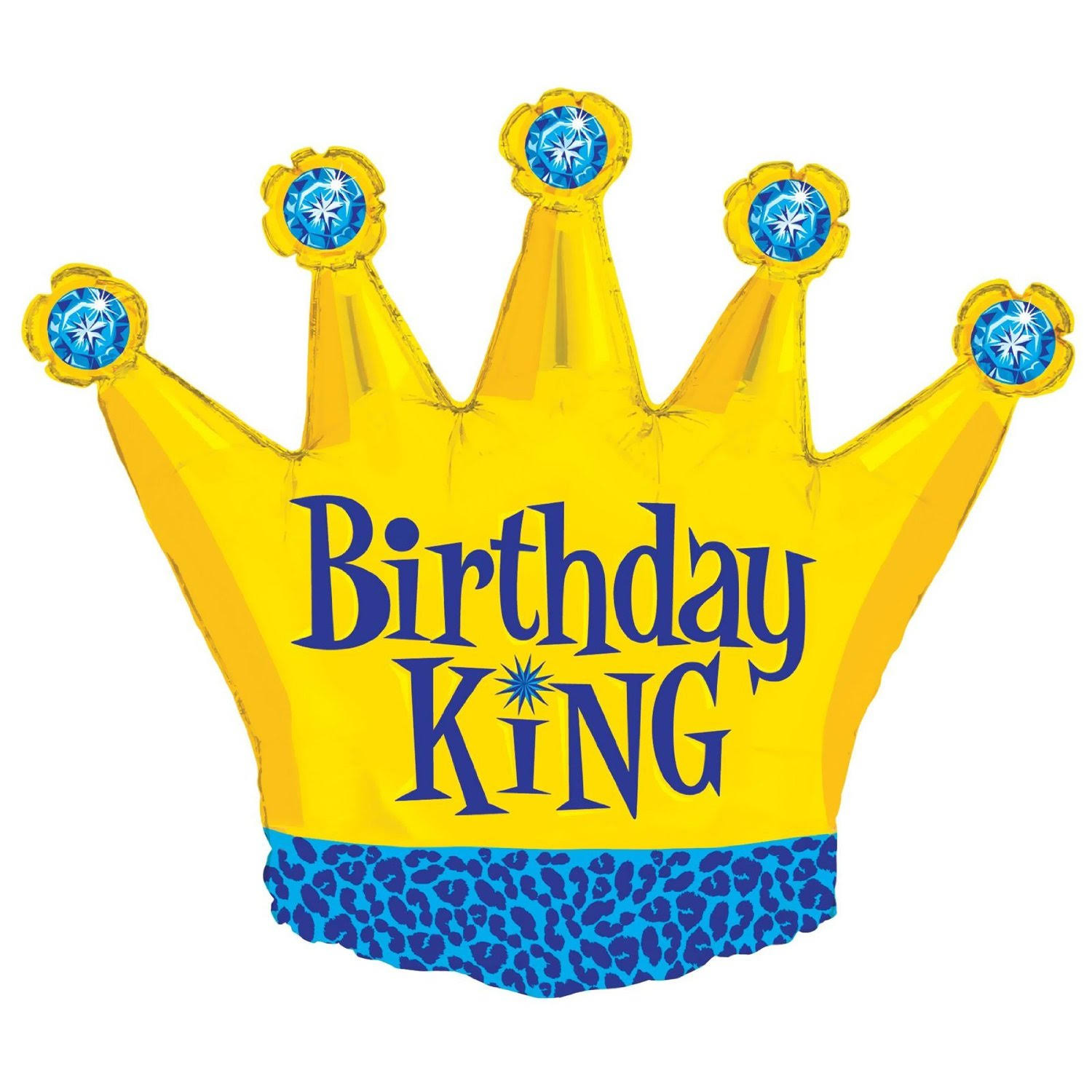 Costumes 205059 Birthday King Foil Balloon