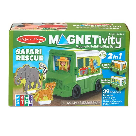Melissa & Doug Building Play Set Safari Rescue Magnetivity Magnetic