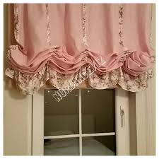 Pink Ruffle Curtain Topper by Excellent Balloon Window Valance 80 Air Balloon Valance Shabby Chic Home Pink Jpg