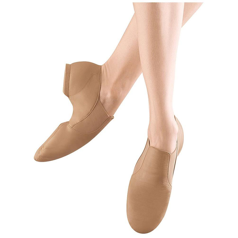 Bloch Youth Elasta Bootie Jazz Shoes - Tan
