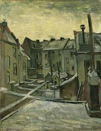 لوحات فنية لفان جوخ VanGogh-Houses_Seen_