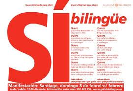 Cartel a favor del bilingüismo