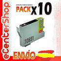 10 Cartuchos De Tinta Negra T0891 Non-oem Epson Stylus Sx400 Wifi